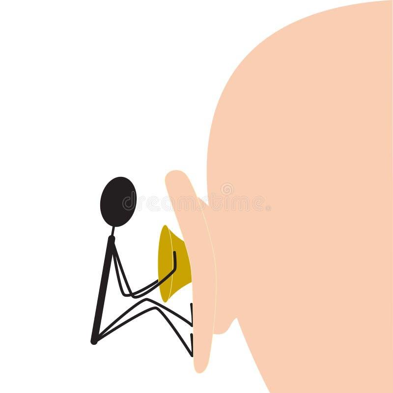 Извлекать плотно сжатый earwax стоковое изображение