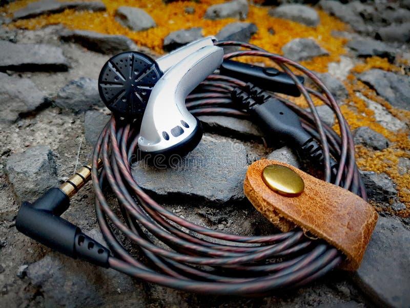 Изготовленное на заказ Earbuds стоковое изображение
