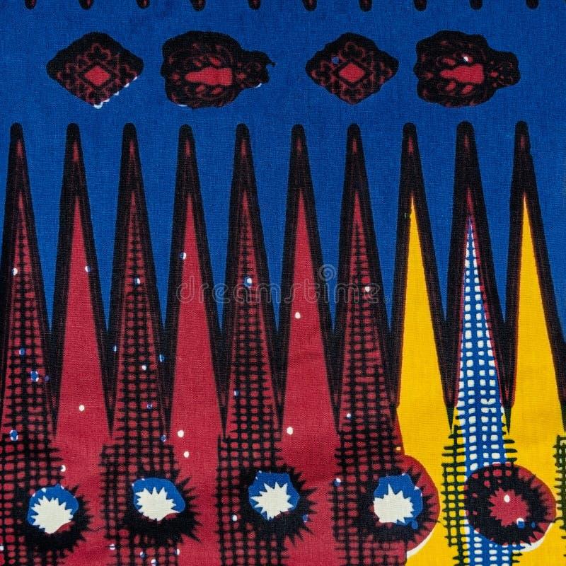 Изготовленная африканская ткань (хлопок) стоковое фото