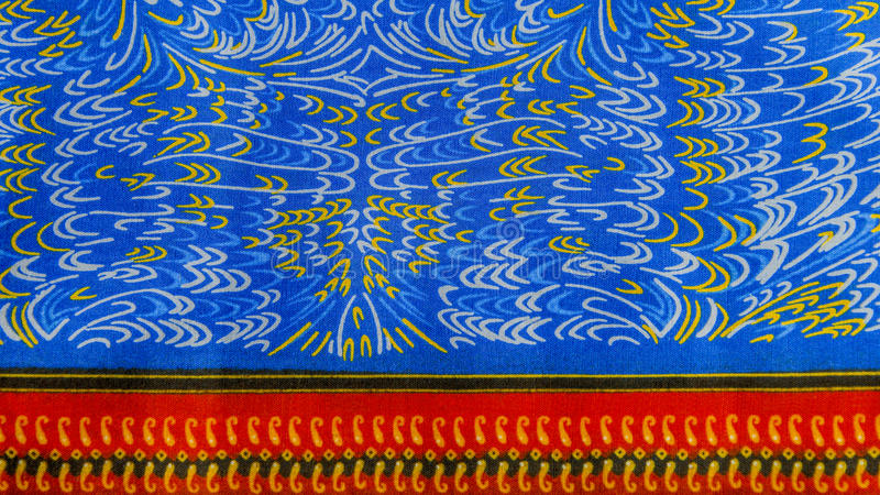 Изготовленная африканская ткань (хлопок) стоковые фотографии rf