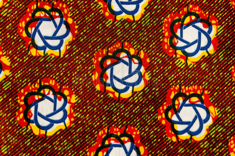 Изготовленная африканская ткань (хлопок) стоковое изображение
