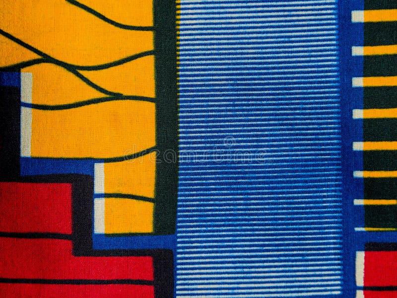 Изготовленная африканская ткань (хлопок) стоковое изображение rf