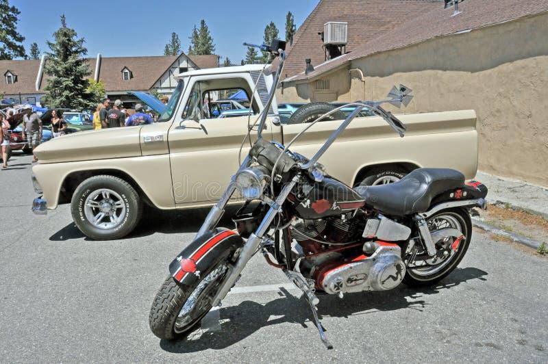 Изготовленный на заказ мотоцикл стоковое фото