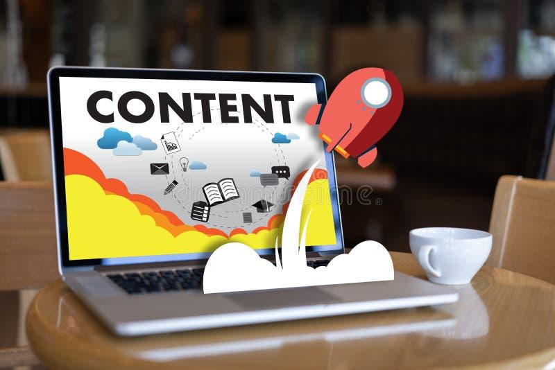 издание средств массовой информации содержимым данным по содержания маркетинга Blogging сообщает стоковая фотография