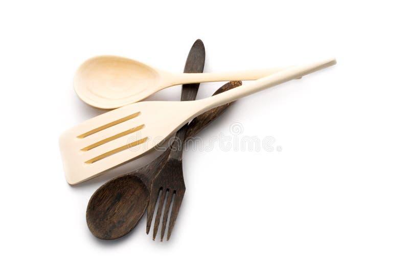изделия кухни деревянные стоковое фото rf
