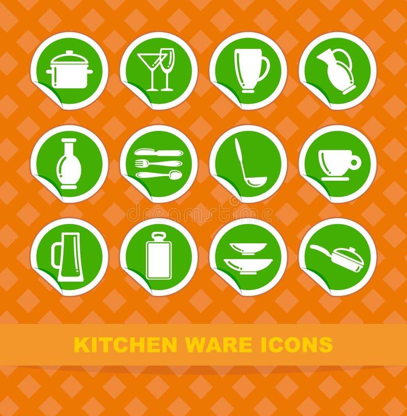 изделия кухни икон бесплатная иллюстрация