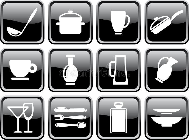 изделия кухни иллюстрация вектора