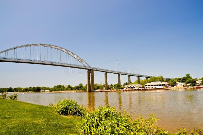 излишек канала моста высокий стоковое фото rf