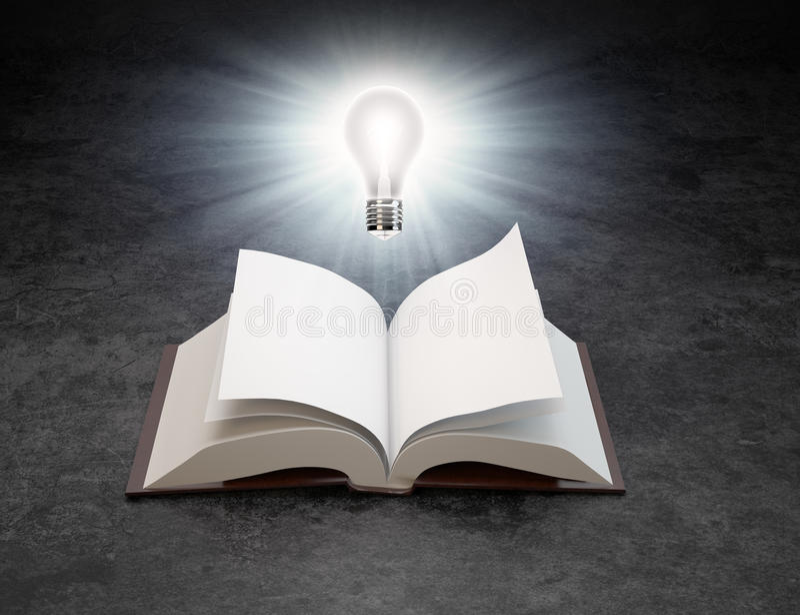 излишек света шарика книги открытый стоковые фото