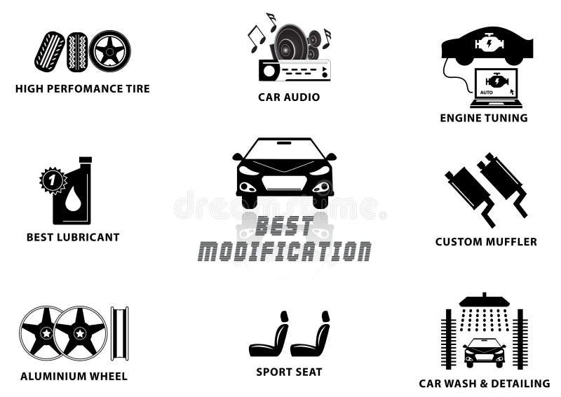 Изменение автомобиля иллюстрация вектора