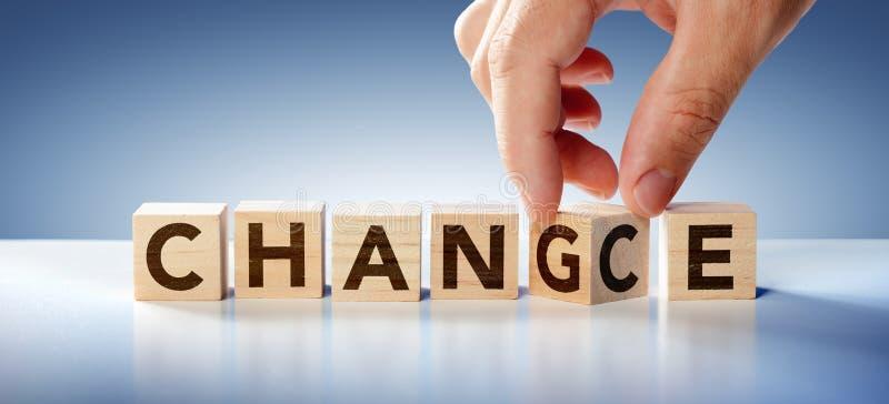 Изменение И Шанс - Концепция Стратегии Бизнес стоковое фото