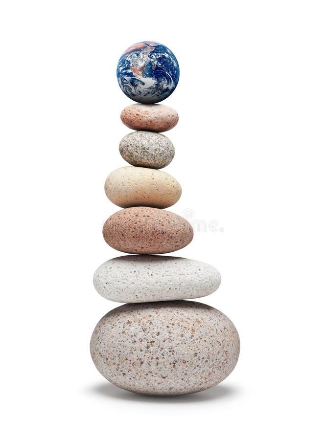 Изменение климата баланса глобуса стоковая фотография rf