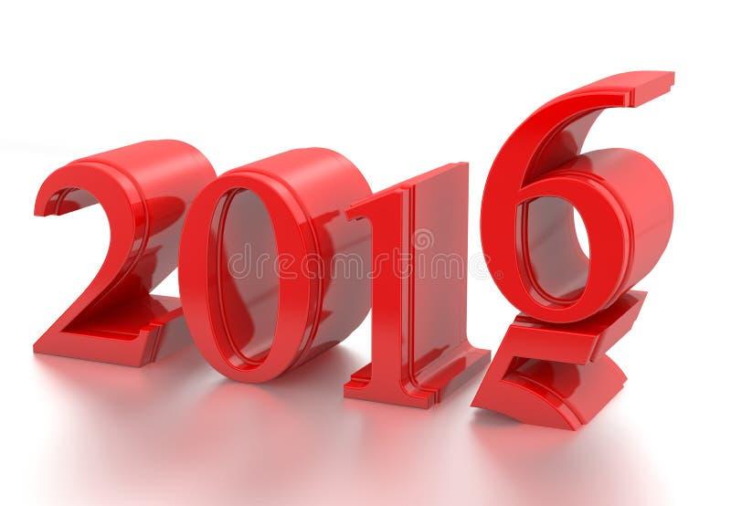 2015-2016 изменение представляет Новый Год 2016 иллюстрация вектора