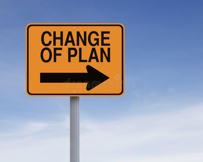 Изменение плана стоковое изображение