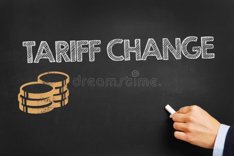 Изменение тарифа стоковые изображения rf