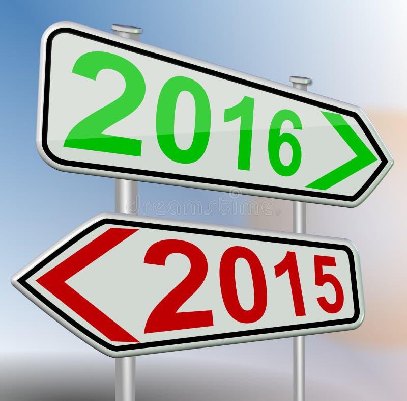 изменение 2016 2015 иллюстрация вектора