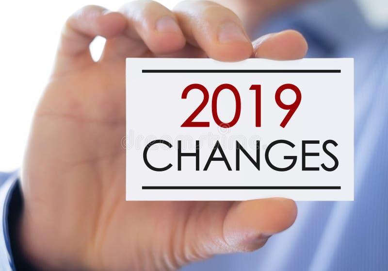 2019 изменений стоковое изображение