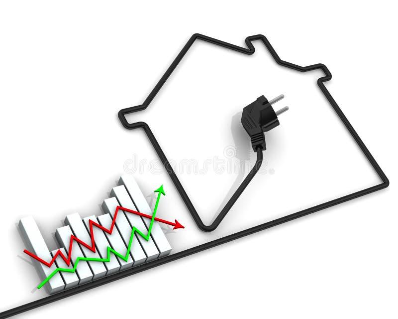 Изменения в тарифах для электричества Концепция иллюстрация вектора