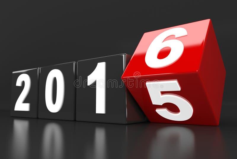 Изменения года 2015 до 2016 иллюстрация вектора