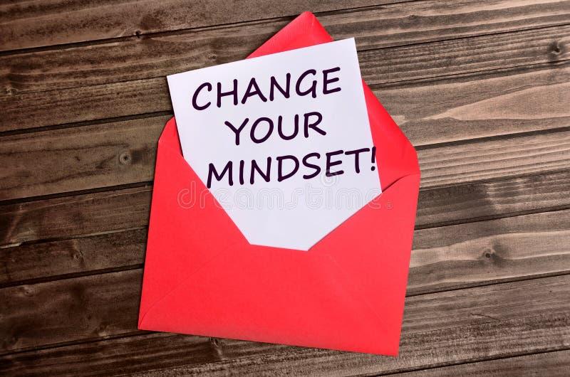 Измените ваши слова склада ума на бумаге стоковое изображение