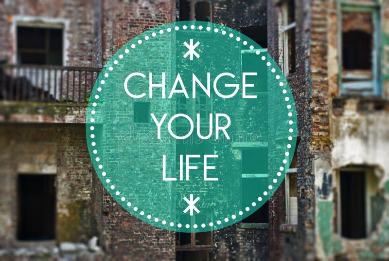 Измените вашу жизнь новую, начиная концепцию иллюстрация штока