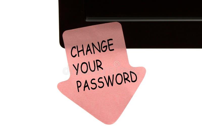 Измените ваш пароль стоковое фото rf