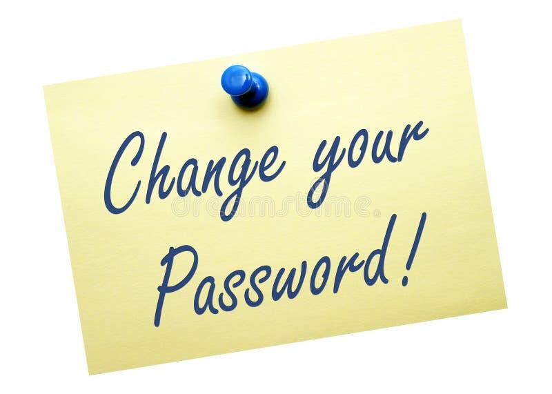 Измените ваш пароль стоковые фото