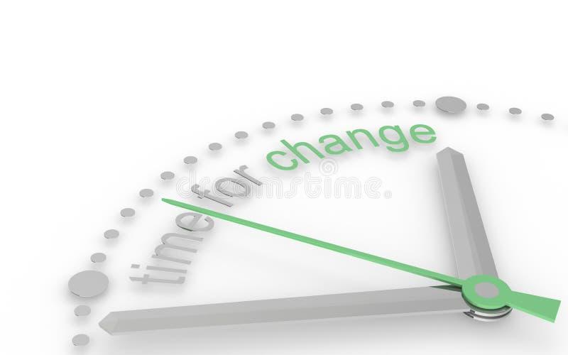 измените время варианта eco иллюстрация штока