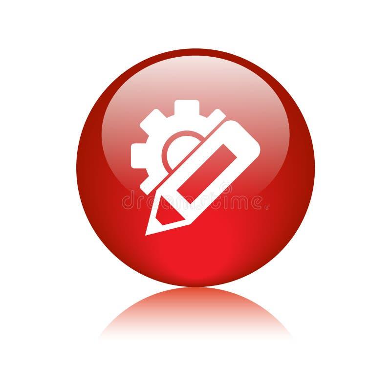 Измените кнопку значка установок бесплатная иллюстрация