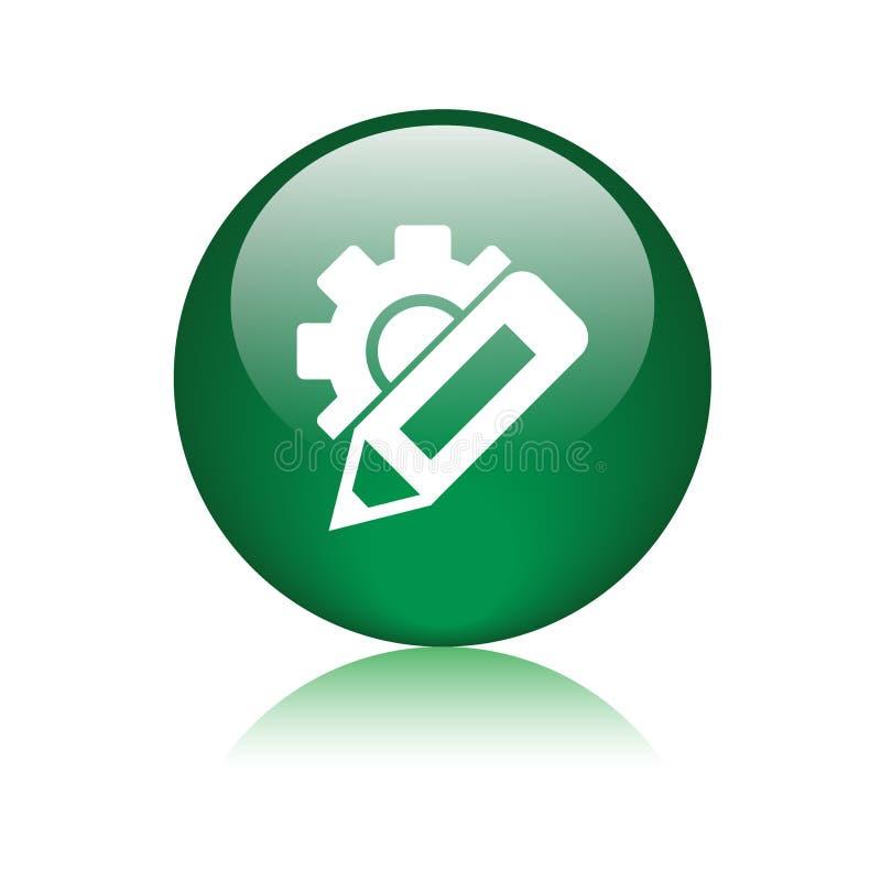 Измените кнопку значка установок иллюстрация вектора