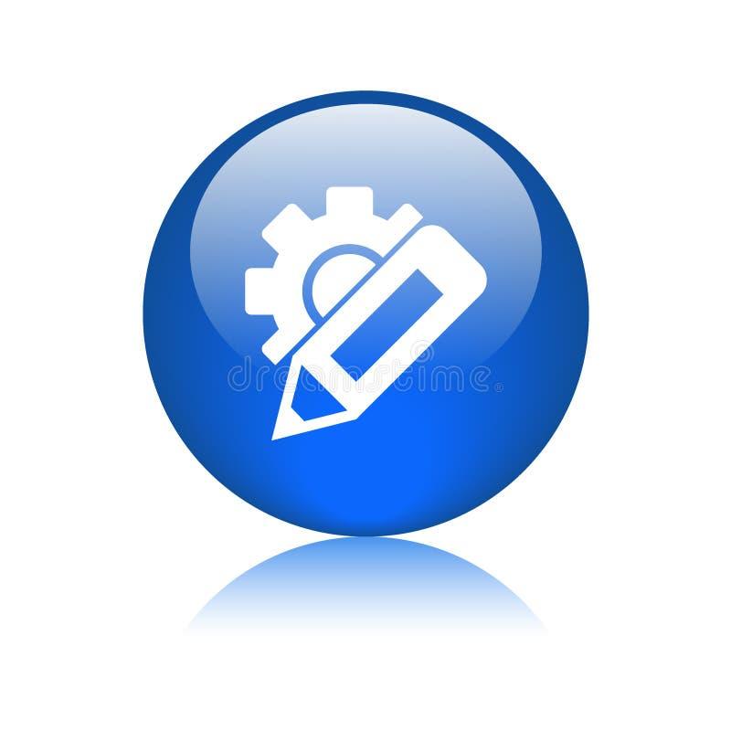 Измените кнопку значка установок иллюстрация штока