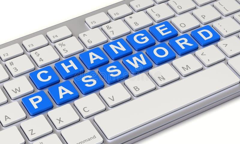 Измените концепцию пароля иллюстрация вектора