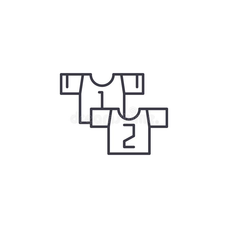Измените линейную концепцию значка Измените линию знак вектора, символ, иллюстрацию иллюстрация штока