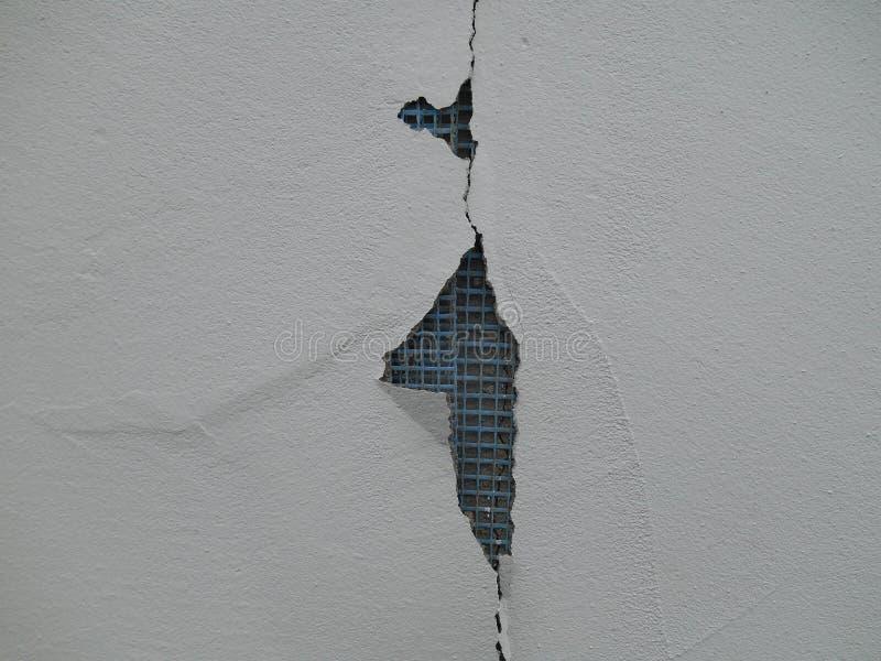 Измените на стене гипсолита, стене гипсолита с пластичным armature стоковые изображения rf