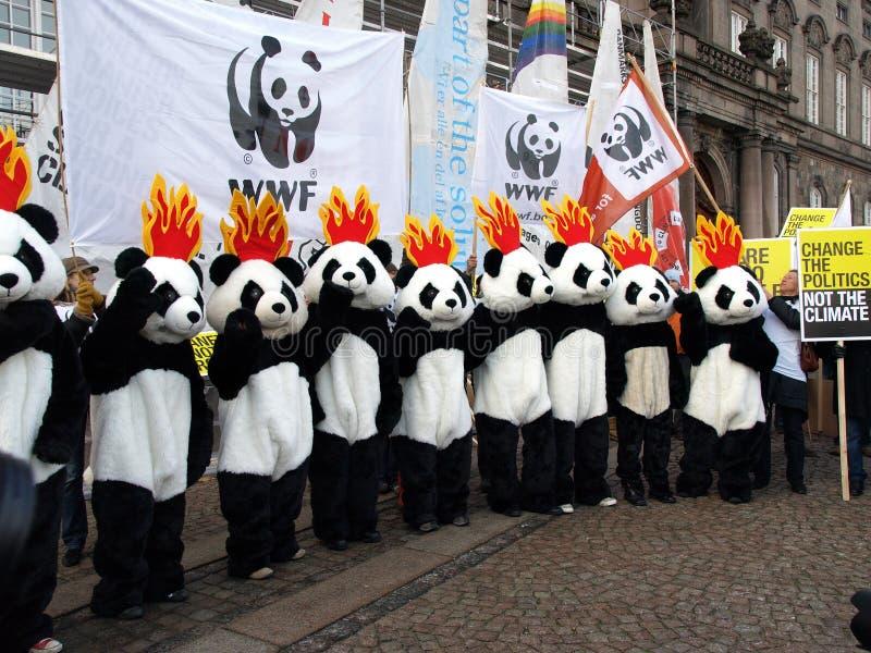 измените ООН демонстрации климата стоковое изображение