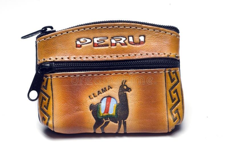 измените ручной работы портмоне Перу стоковое фото rf