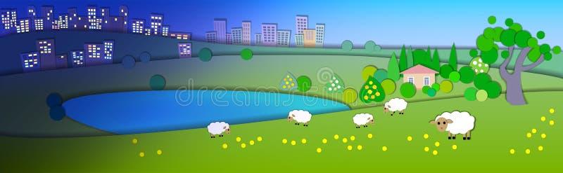 измените сезоны Концепция показывая различные уклады жизни режимов Pape бесплатная иллюстрация