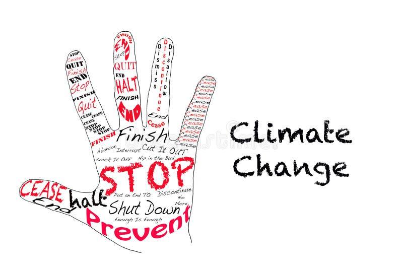 измените стоп климата иллюстрация вектора