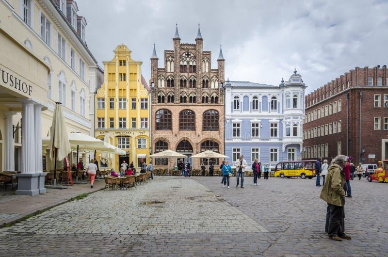 Измените Markt Stralsund стоковое фото rf