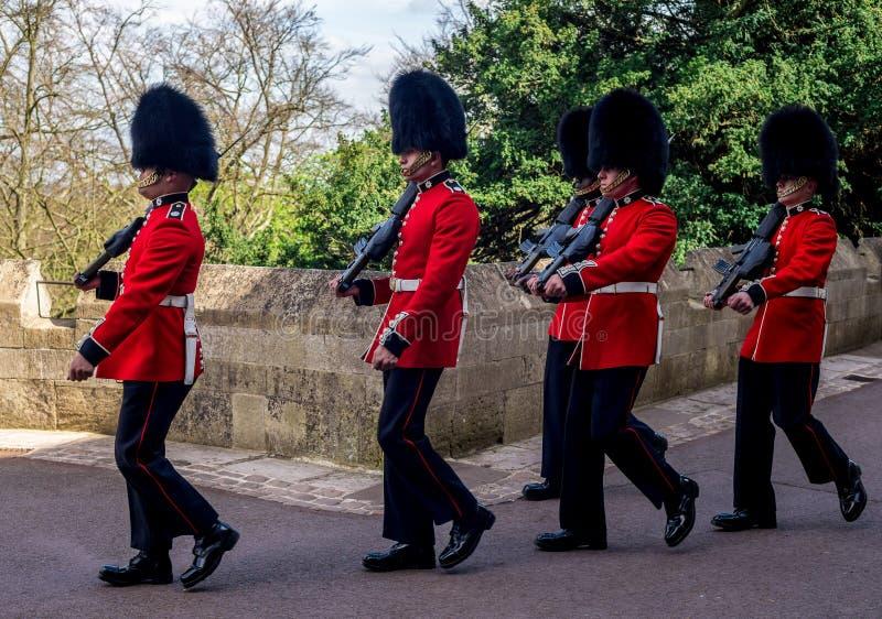 Изменять церемонию предохранителя на замке Виндзора стоковые фотографии rf