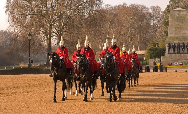 изменяя предохранитель защищает парад лошади стоковое изображение