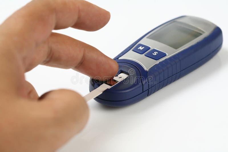 измерение глюкозы стоковая фотография rf