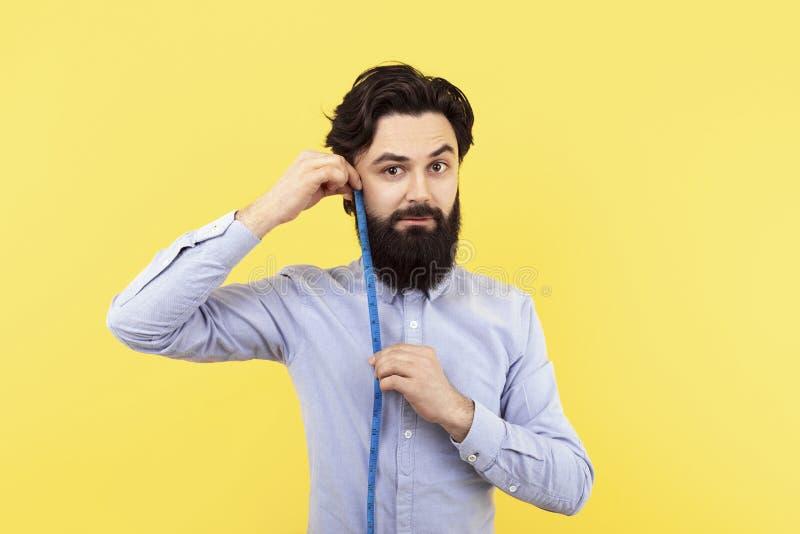 Измерение длины бороды стоковые изображения