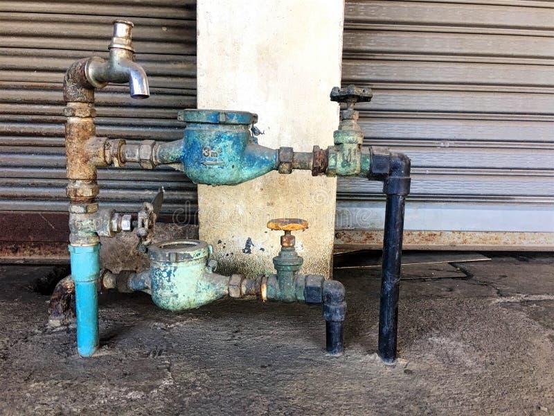 измерьте старую воду стоковое изображение rf
