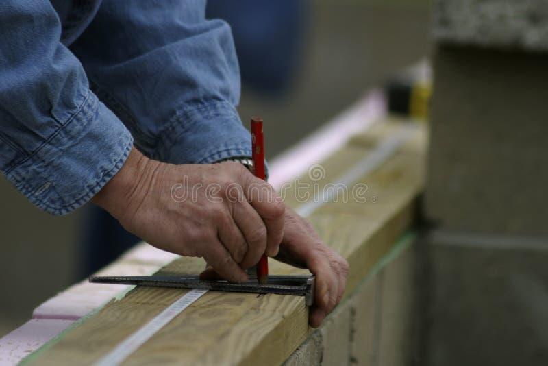 измерять рук стоковое изображение rf