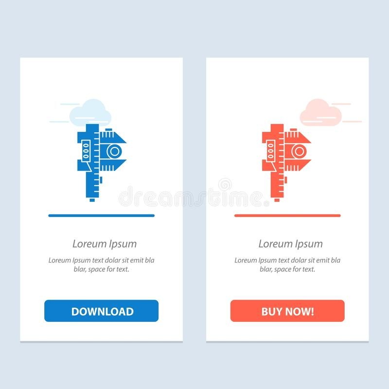 Измерять, точность, измерение, небольшая, крошечная синь и красная загрузка и купить теперь шаблон карты приспособления сети бесплатная иллюстрация