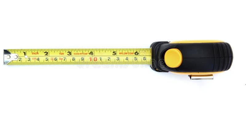 измеряя желтый цвет ленты верхний стоковое фото rf