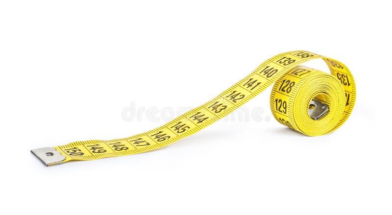 измеряя желтый цвет ленты стоковые изображения rf