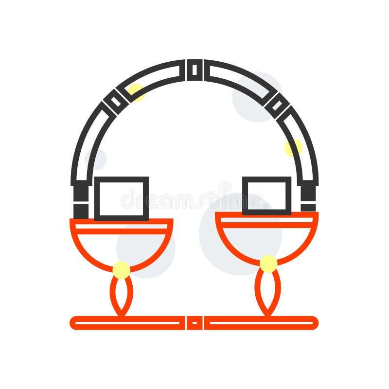 Измеряя знак и символ вектора значка изолированные на белой предпосылке, измеряя концепции логотипа иллюстрация штока