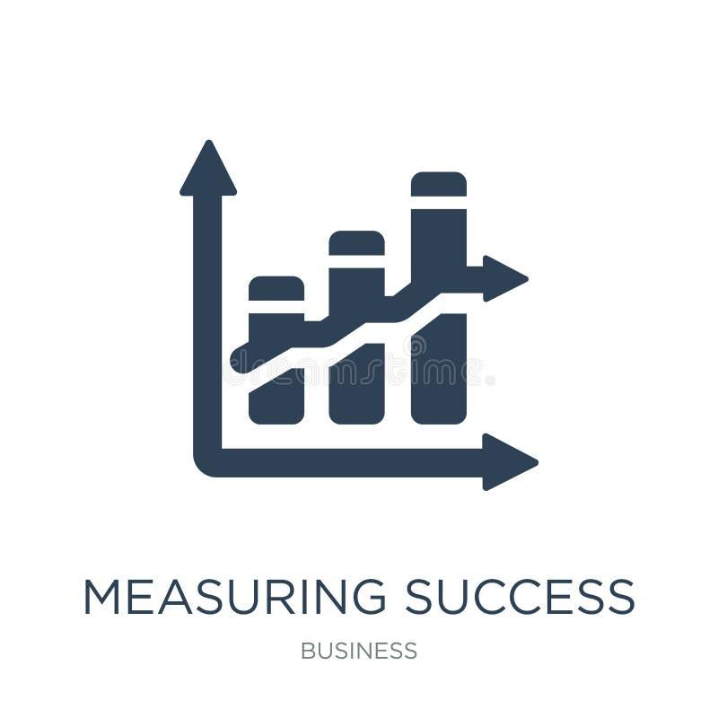 измеряя значок успеха в ультрамодном стиле дизайна измеряя значок успеха изолированный на белой предпосылке измеряя значок вектор бесплатная иллюстрация